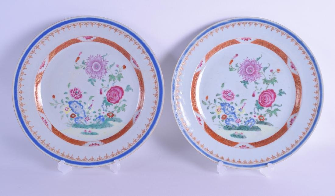 A PAIR OF EARLY 18TH CENTURY CHINESE EXPORT FAMIULLE