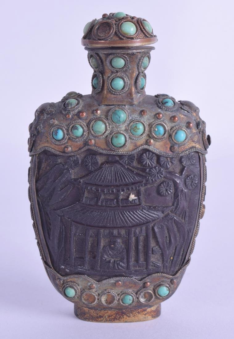 A LARGE EARLY 20TH CENTURY TIBETAN GILT METAL AND