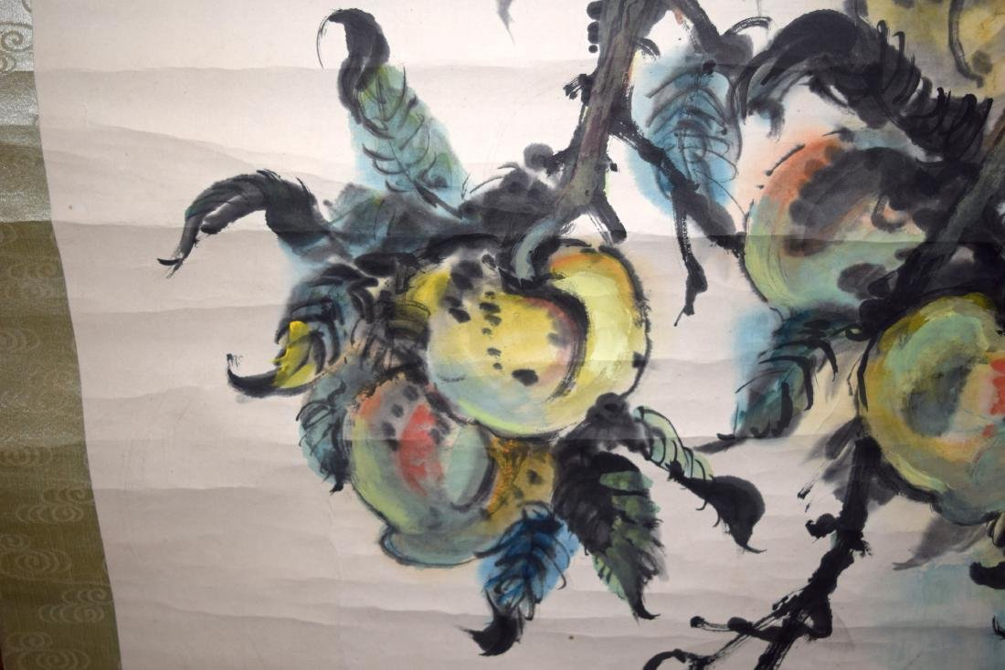 A GOOD CHINESE INKWORK WATERCOLOUR SCROLL painted with - 6