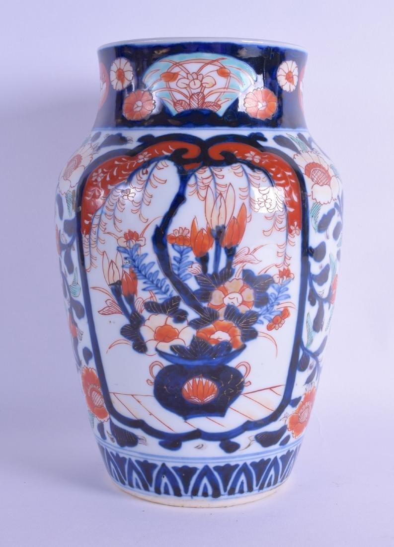 A 19TH CENTURY JAPANESE MEIJI PERIOD IMARI VASE painted