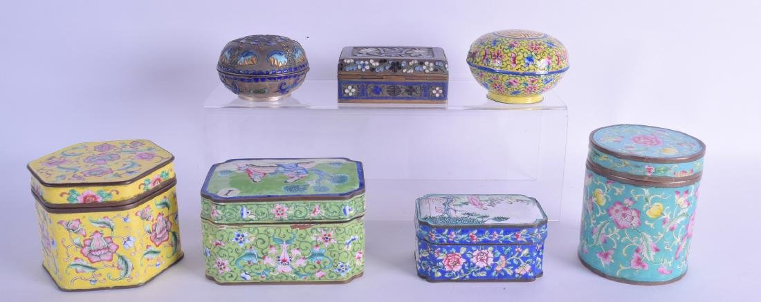 TWO EARLY 20TH CENTURY CHINESE SILVER AND ENAMEL BOXES - 2