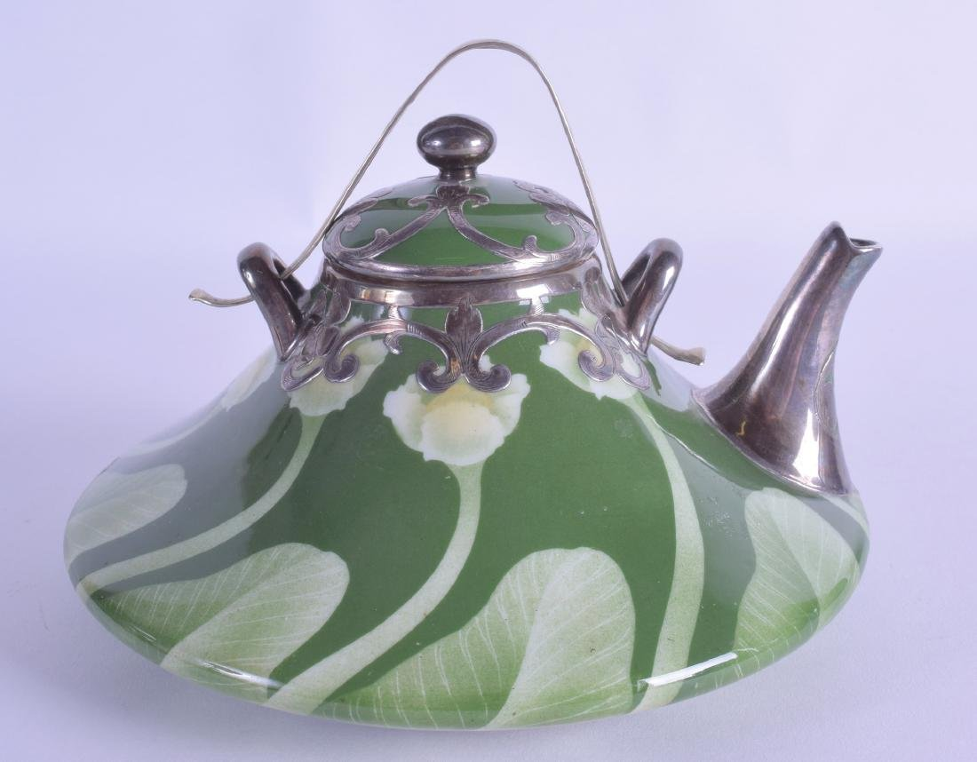 A RARE JAPANESE MEIJI PERIOD ART NOUVEAU TEAPOT AND