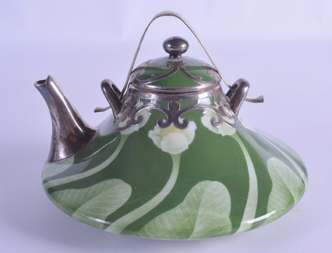 A RARE JAPANESE MEIJI PERIOD ART NOUVEAU TEAPOT AND - 3