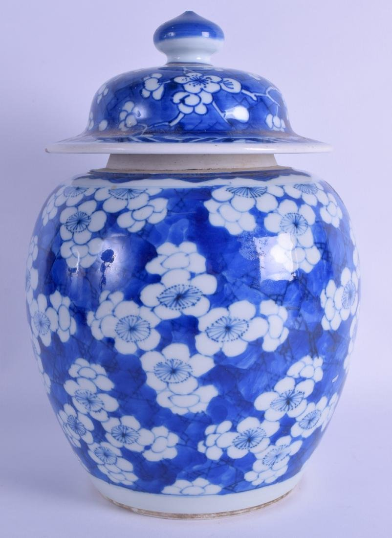 A 17TH/18TH CENTURY CHINESE BLUE AND WHITE GINGER JAR