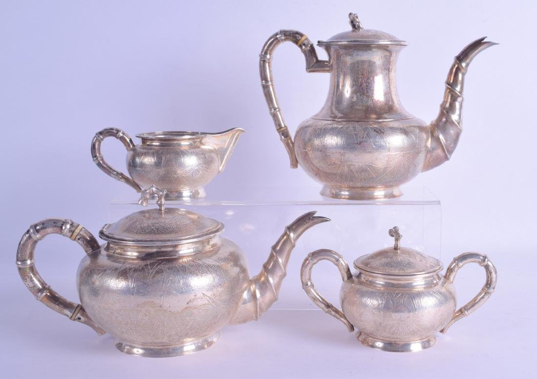 A GOOD LATE 19TH CENTURY CHINESE EXPORT FOUR PIECE