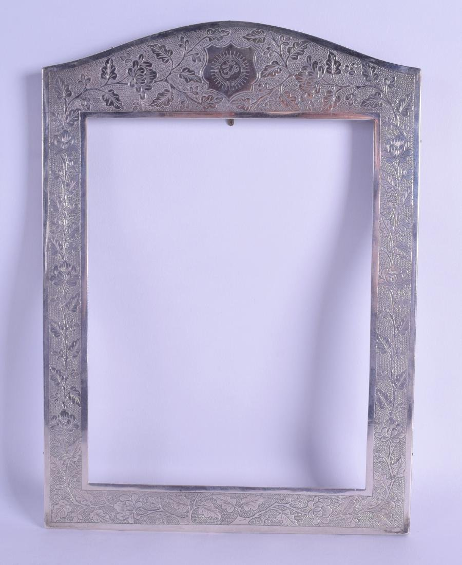 AN EARLY 20TH CENTURY CHINESE EXPORT SILVER PHOTOGRAPH