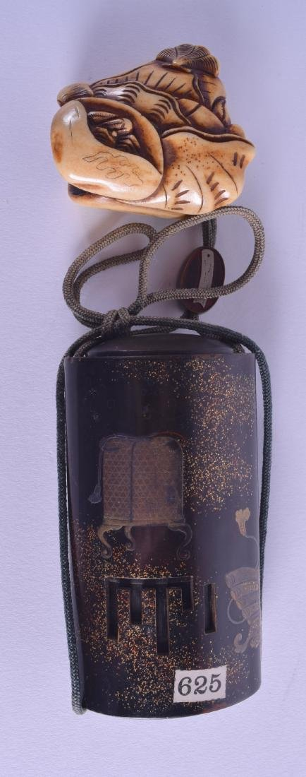A GOOD 19TH CENTURY JAPANESE MEIJI PERIOD BLACK LACQUER