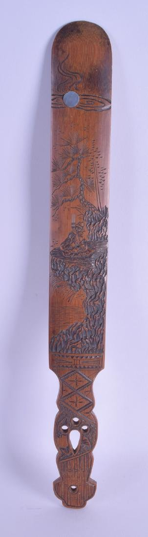 A LARGE EARLY 20TH CENTURY JAPANESE MEIJI PERIOD BAMBOO