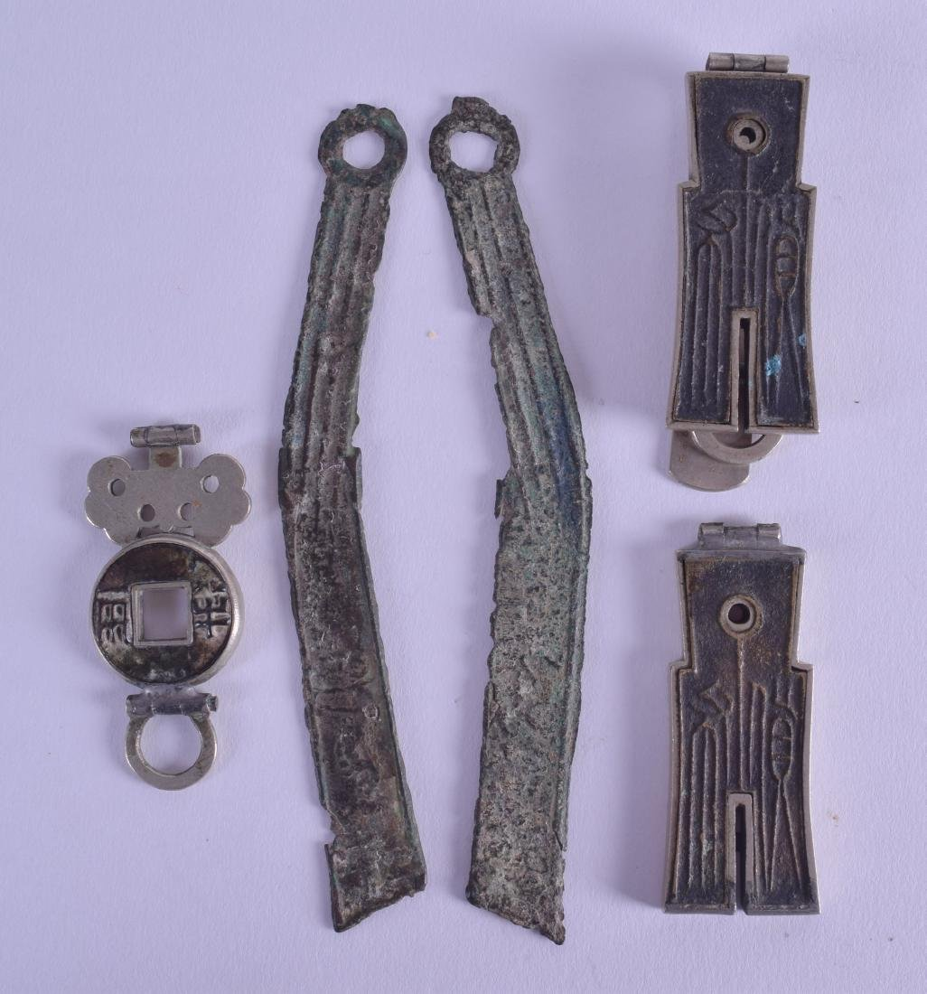A SMALL GROUP OF CHINESE ARTIFACTS in various forms and