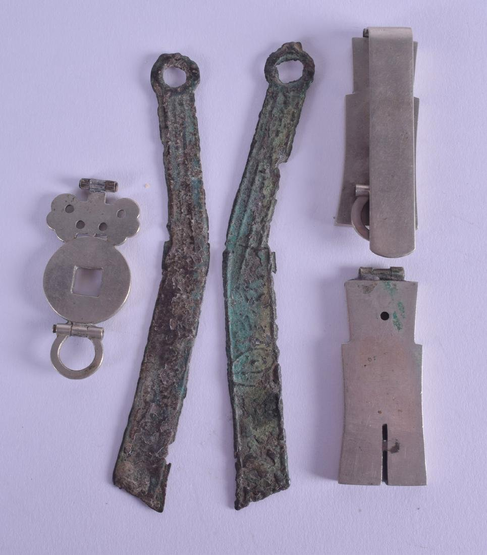 A SMALL GROUP OF CHINESE ARTIFACTS in various forms and - 2