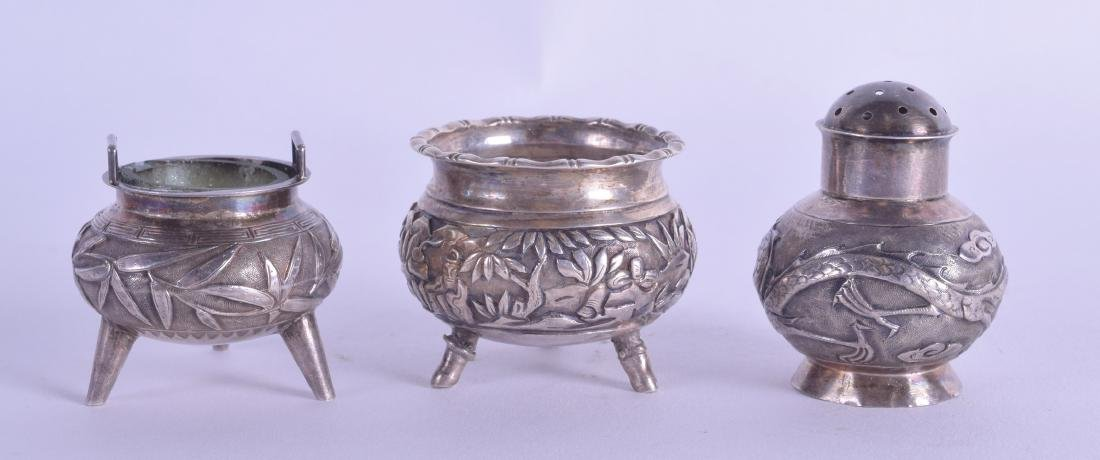 A MATCHED LATE 19TH CENTURY CHINESE EXPORT SILVER