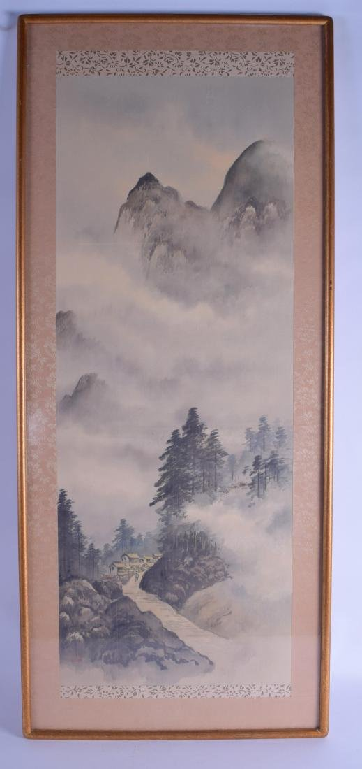 AN EARLY 20TH CENTURY CHINESE FRAMED WATERCOLOUR