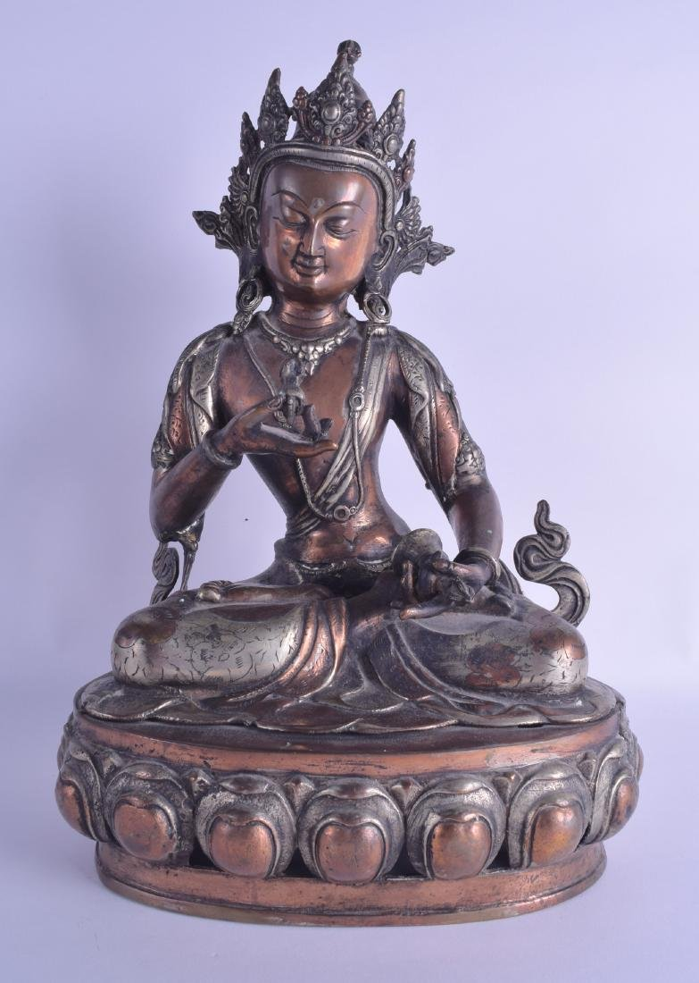 A LARGE 19TH CENTURY CHINESE TIBETAN COPPER BRONZE AND