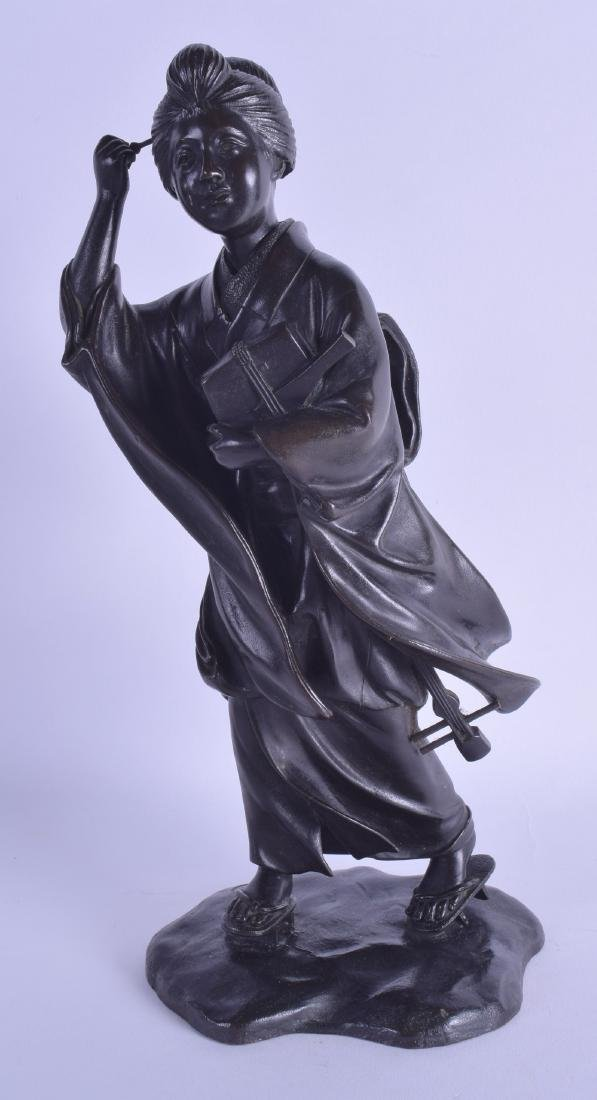 A 19TH CENTURY JAPANESE MEIJI PERIOD BRONZE FIGURE OF A