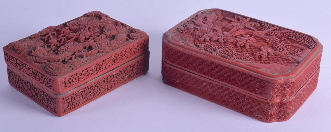 A CHINESE QING DYNASTY CARVED CINNABAR LACQUER