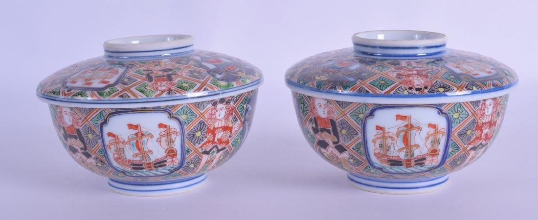 A RARE PAIR OF 19TH CENTURY JAPANESE EDO PERIOD BOWLS