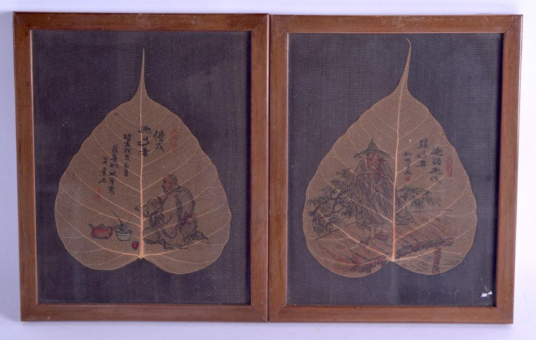 A SET OF FIVE 19TH CENTURY CHINESE FRAMED INK WORKS ON