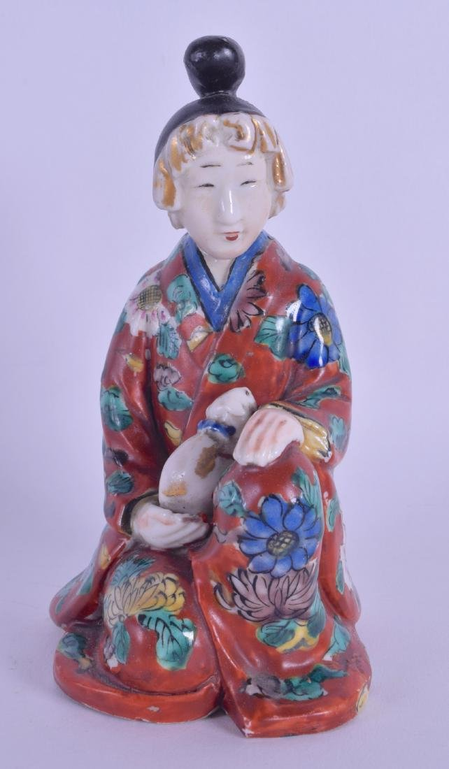 A 19TH CENTURY JAPANESE MEIJI PERIOD AO KUTANI FIGURE