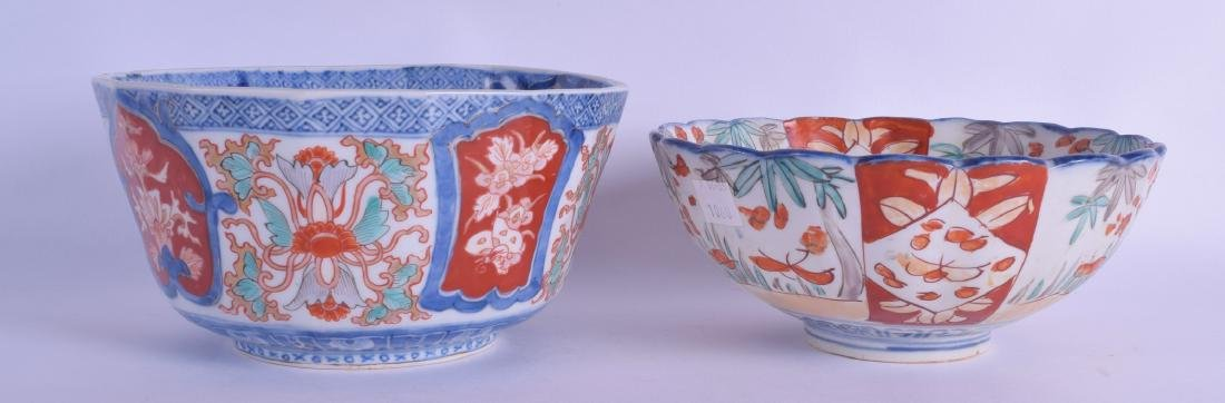 TWO 19TH CENTURY JAPANESE MEIJI PERIOD IMARI BOWLS