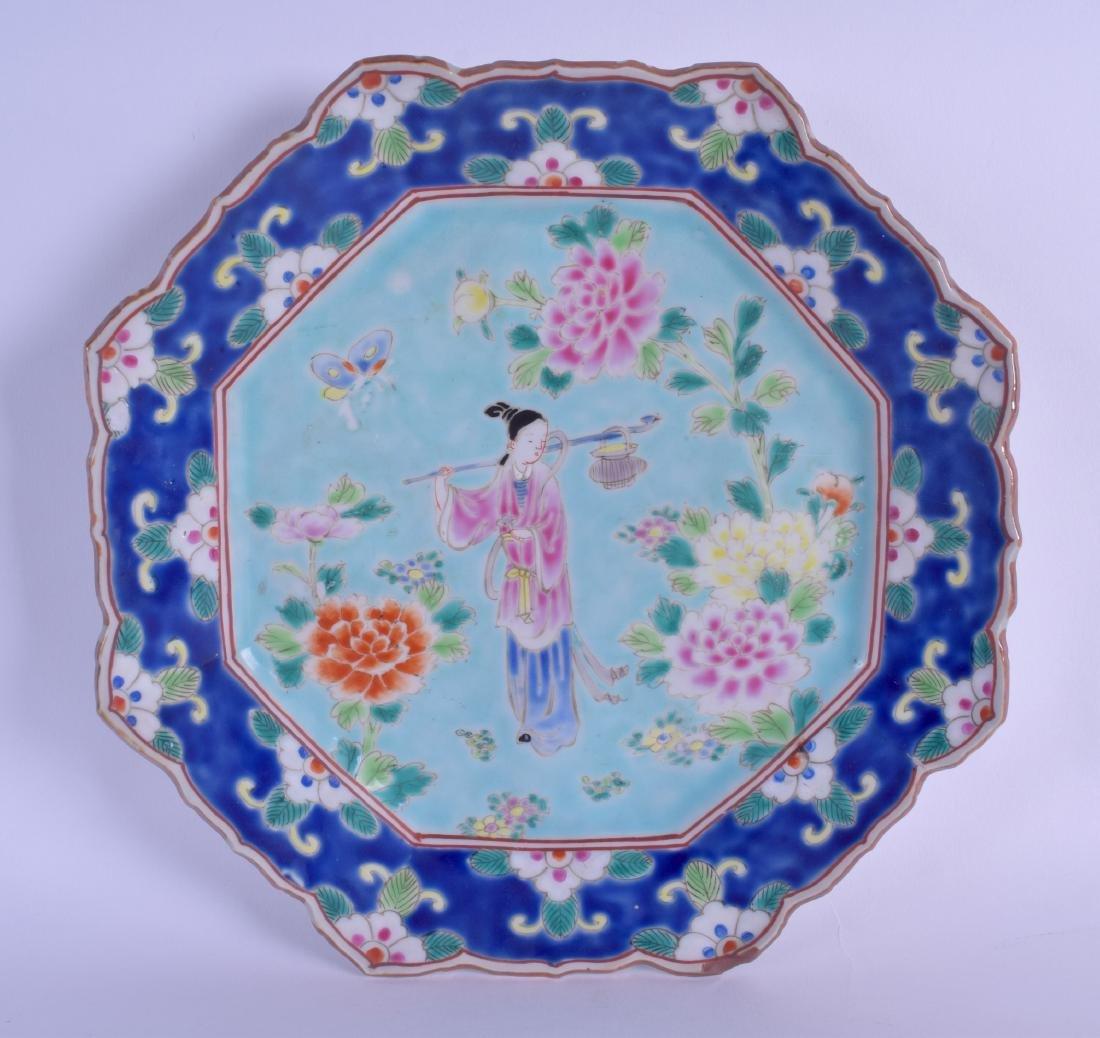 A 19TH CENTURY JAPANESE MEIJI PERIOD KUTANI OCTAGONAL