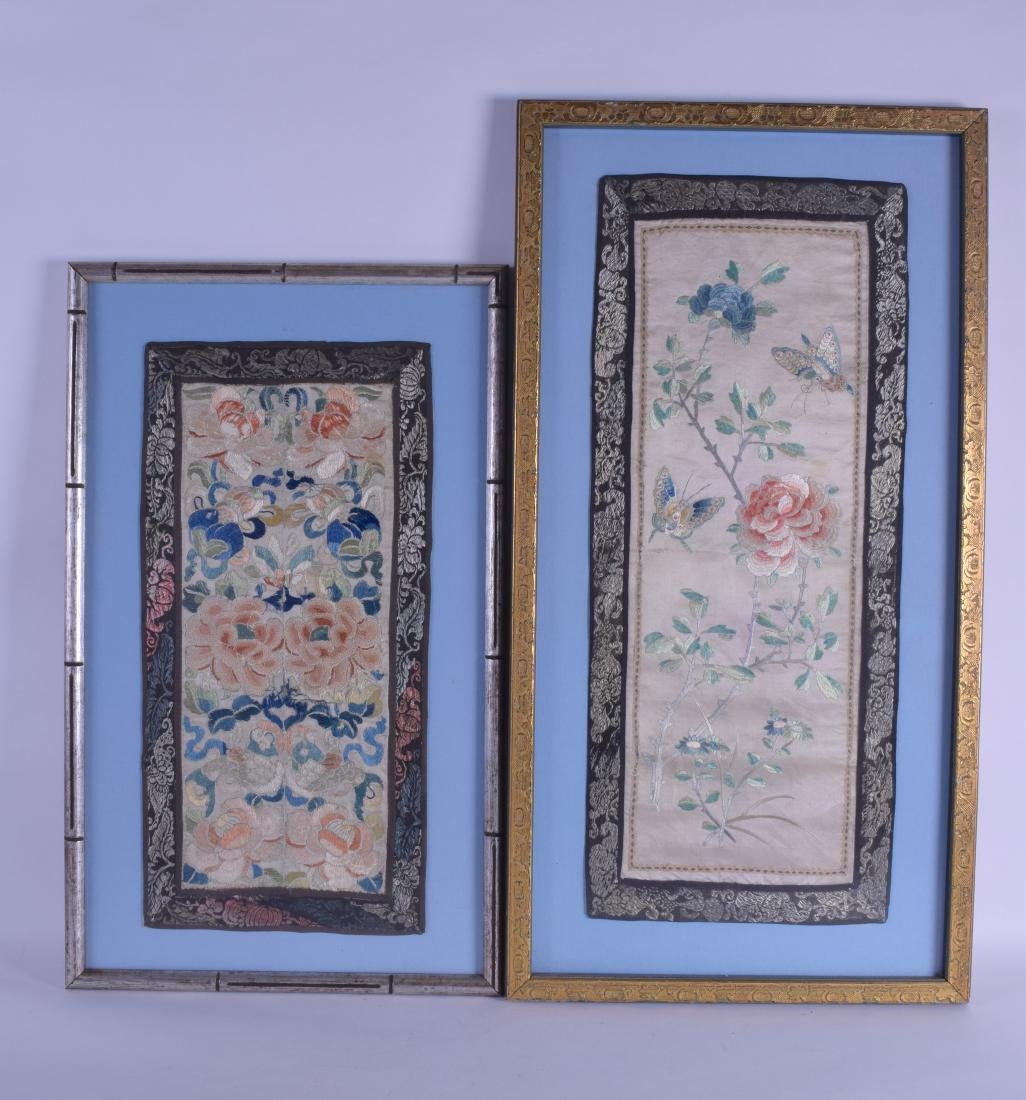 A MATCHED PAIR OF EARLY 20TH CENTURY CHINESE FRAMED
