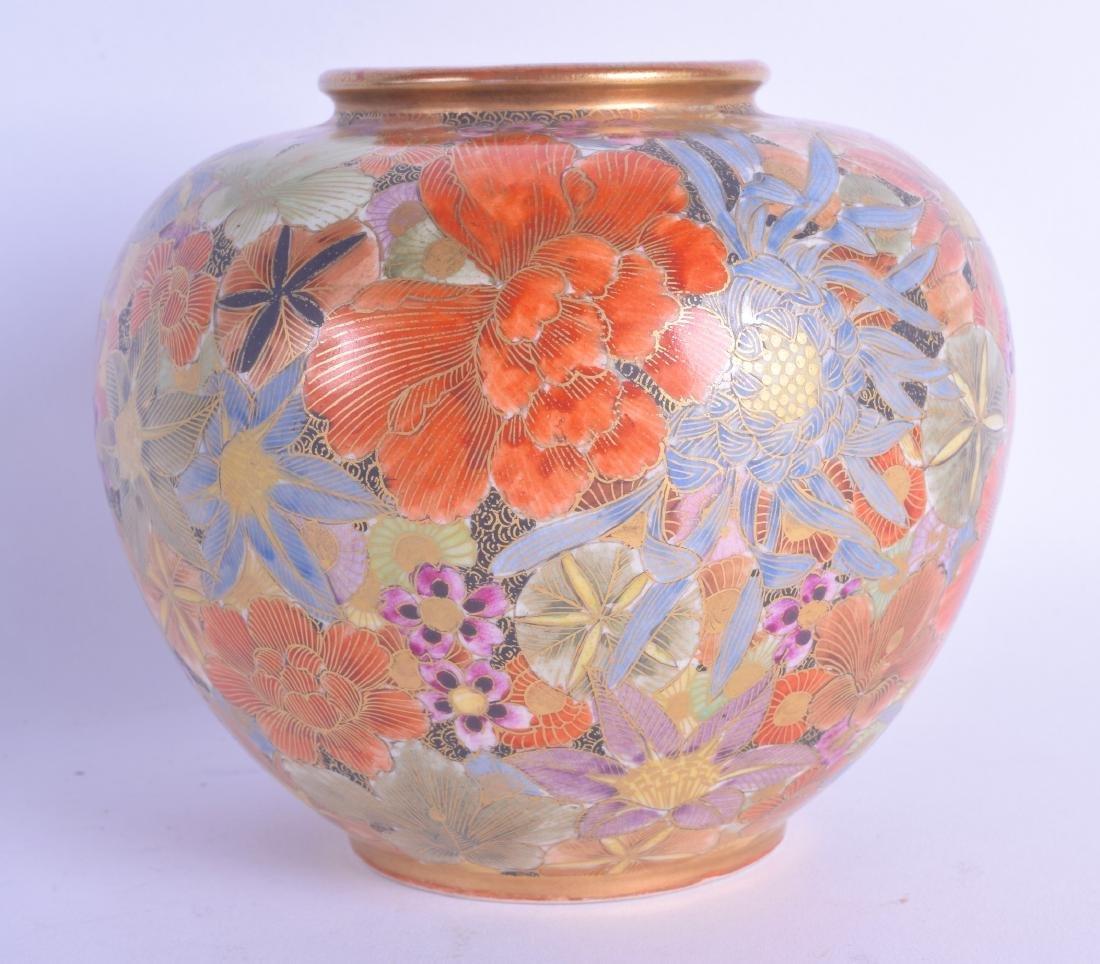 A 19TH CENTURY JAPANESE MEIJI PERIOD SATSUMA VASE of