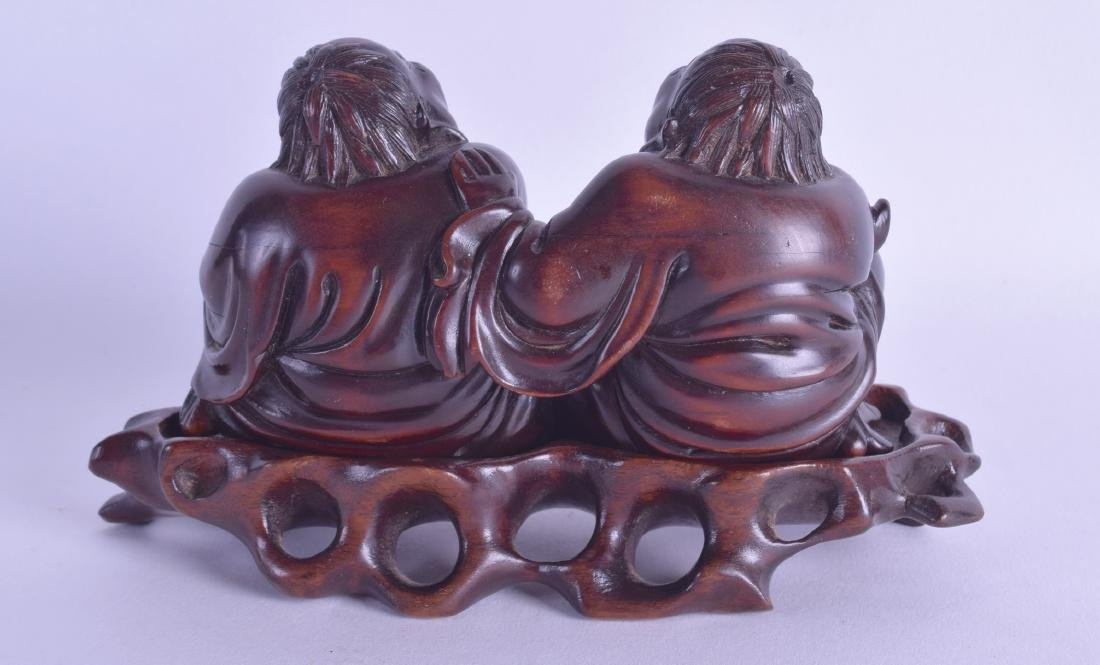 AN EARLY 20TH CENTURY CHINESE CARVED HARDWOOD FIGURE OF - 2