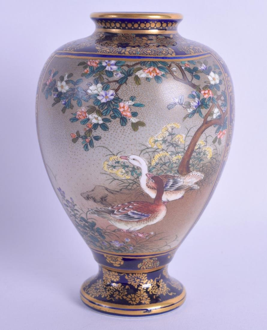 A LATE 19TH CENTURY JAPANESE MEIJI PERIOD SATSUMA VASE
