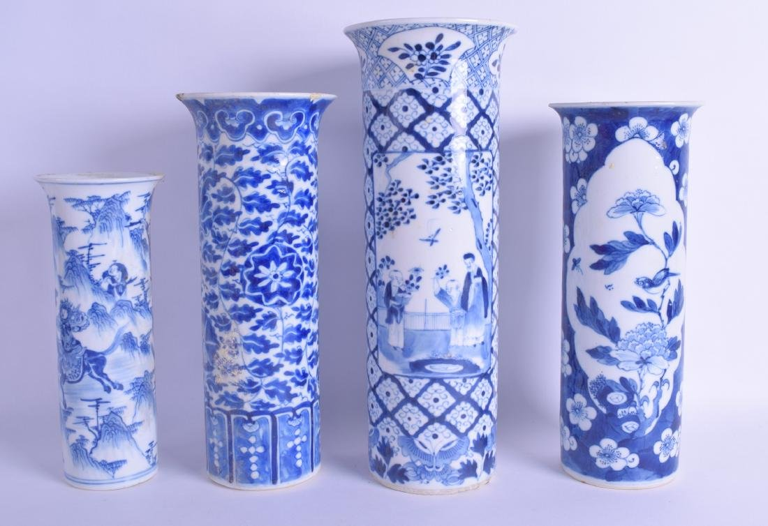 A GROUP OF FOUR 19TH CENTURY CHINESE BLUE AND WHITE - 2