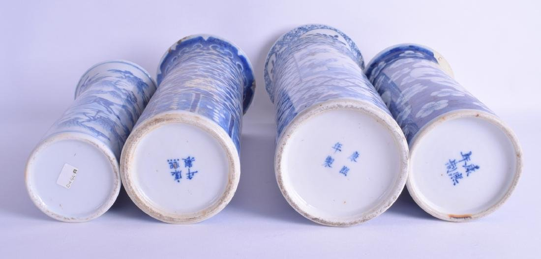 A GROUP OF FOUR 19TH CENTURY CHINESE BLUE AND WHITE - 3