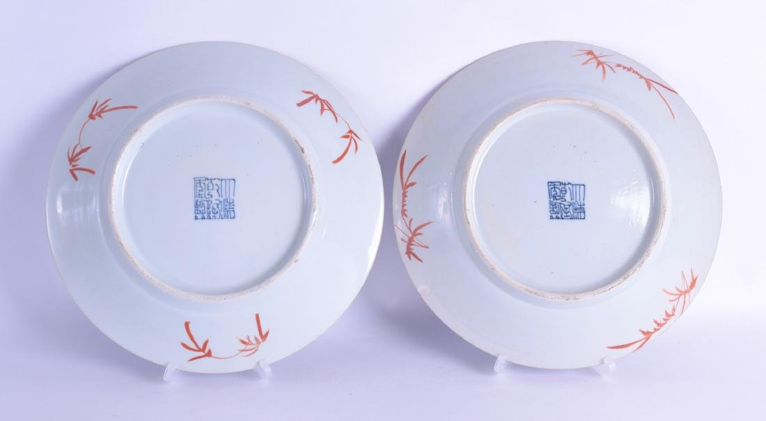 A PAIR OF CHINESE QING DYNASTY SCRAFITO PORCELAIN - 2