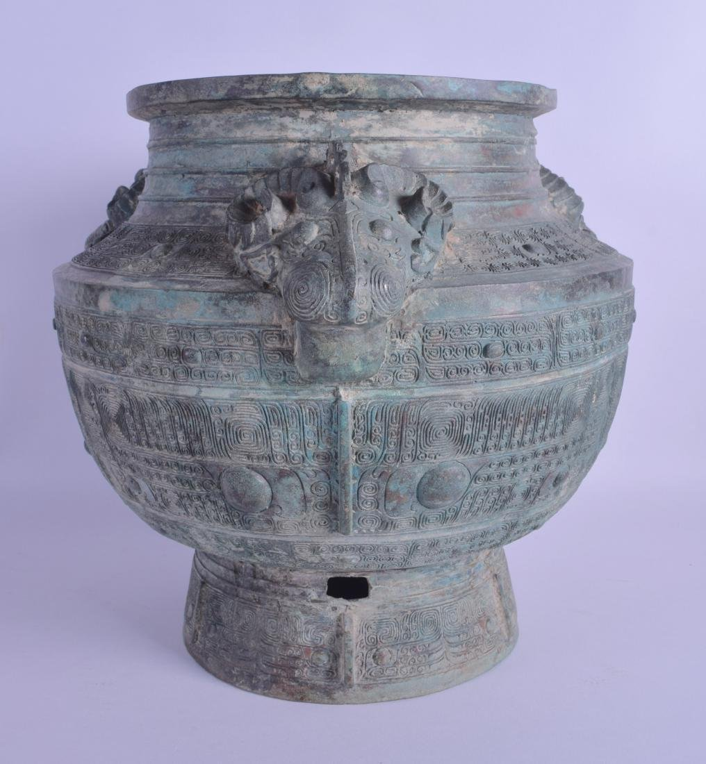 A LARGE CHINESE BRONZE JARDINIERE probably Qing, - 2