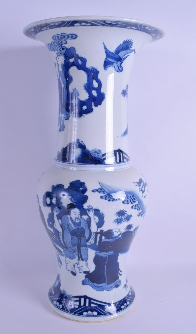A CHINESE BLUE AND WHITE PORCELAIN YEN YEN VASE Kangxi