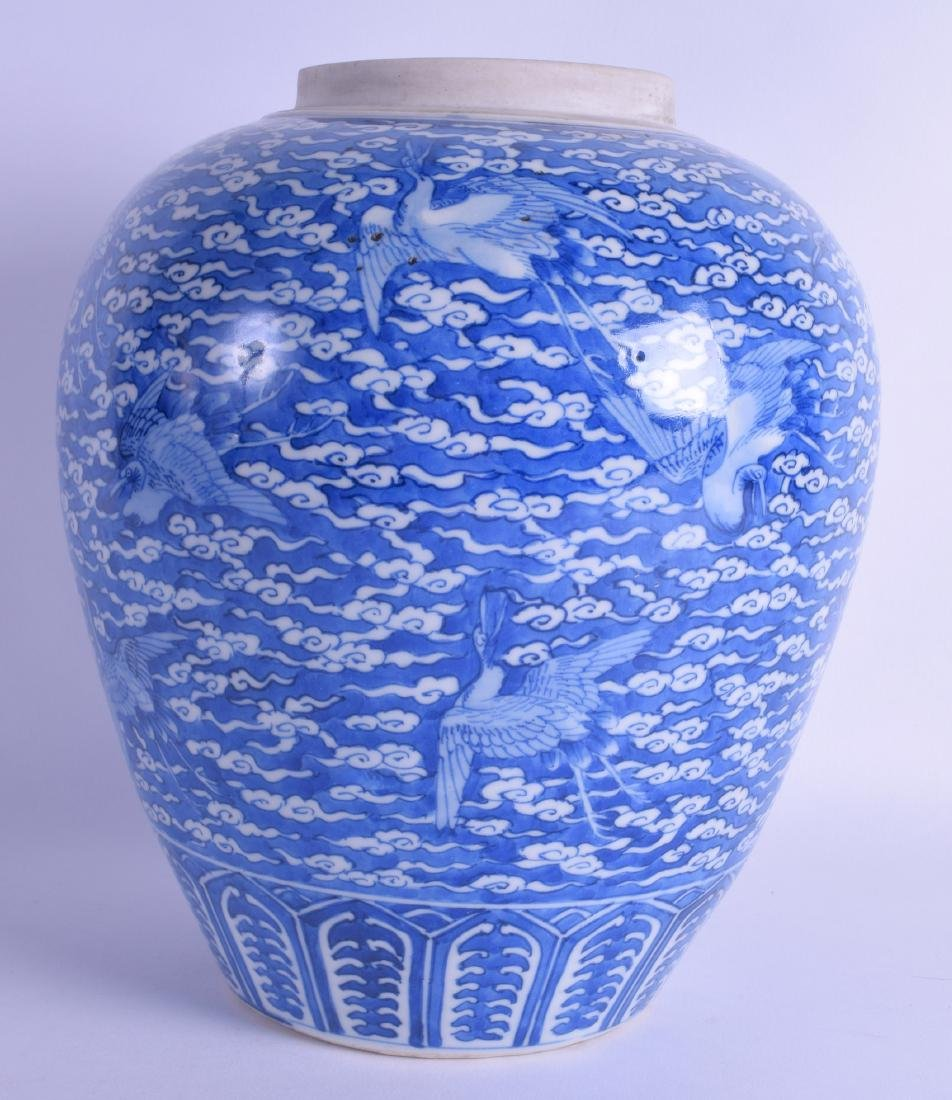 AN 18TH/19TH CENTURY JAPANESE EDO PERIOD BLUE AND WHITE