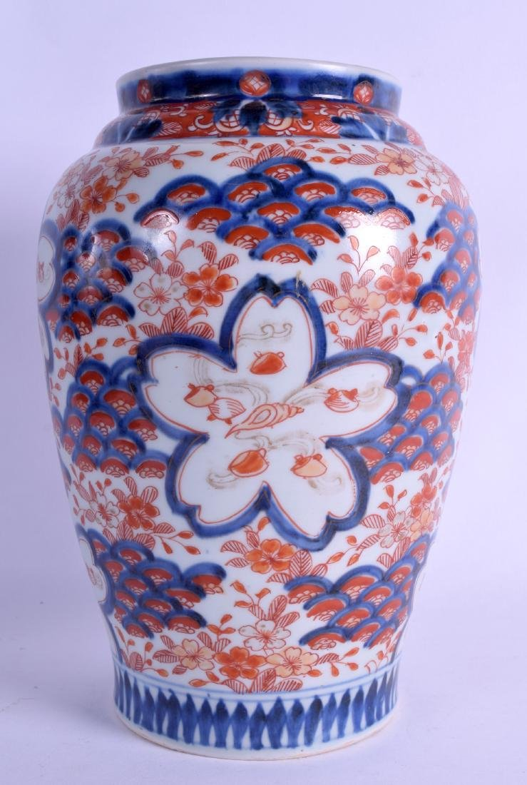 A 19TH CENTURY JAPANESE MEIJI PERIOD BALUSTER VASE