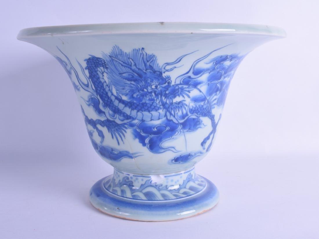 AN UNUSUAL EARLY 19TH CENTURY JAPANESE EDO PERIOD BLUE
