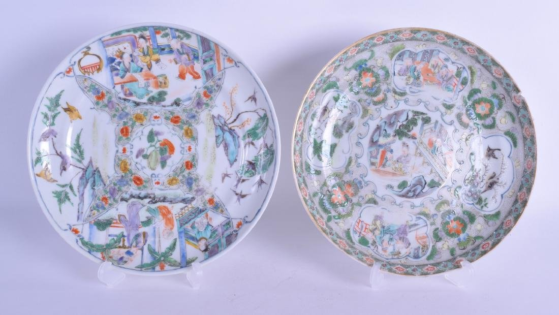 A MATCHED PAIR OF 19TH CENTURY CHINESE FAMILLE VERTE