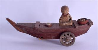 AN EARLY 20TH CENTURY JAPANESE KOBE TOY in the form of
