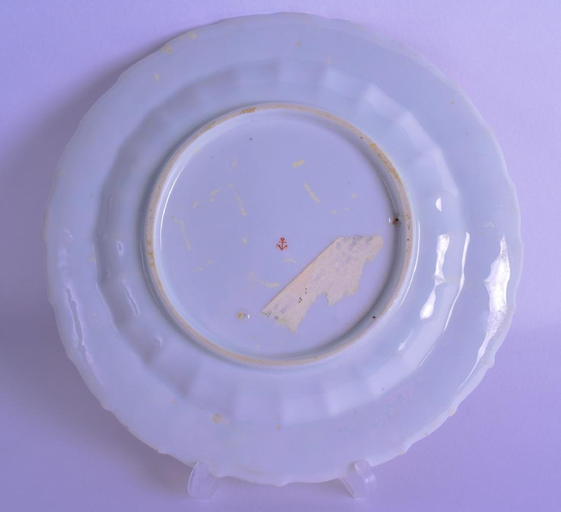 A GOOD 18TH CENTURY CHELSEA PORCELAIN SCALLOPED PLATE - 2