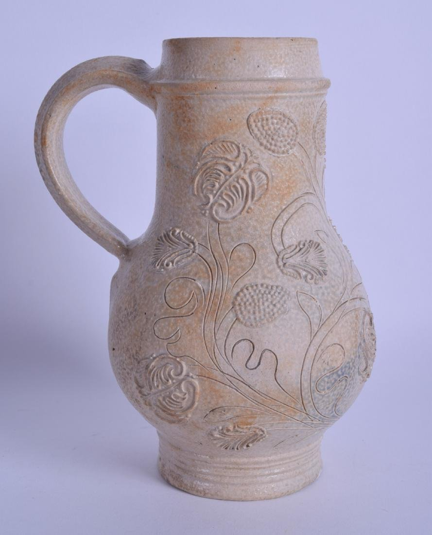 A RARE 17TH CENTURY GERMAN STONEWARE BELLARMINE JUG - 2