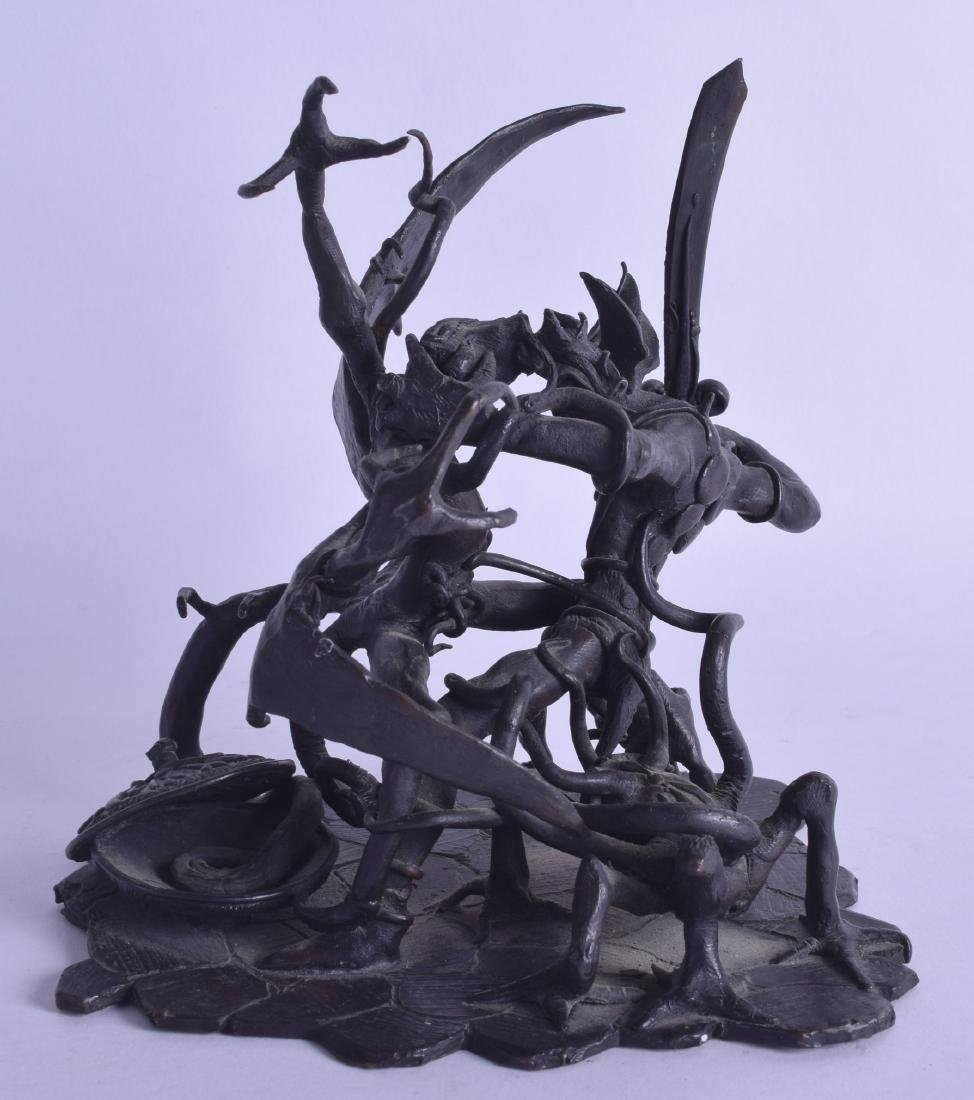 AN UNUSUAL 1970S BRONZE FIGURE OF A MYTHICAL DRAGON - 2