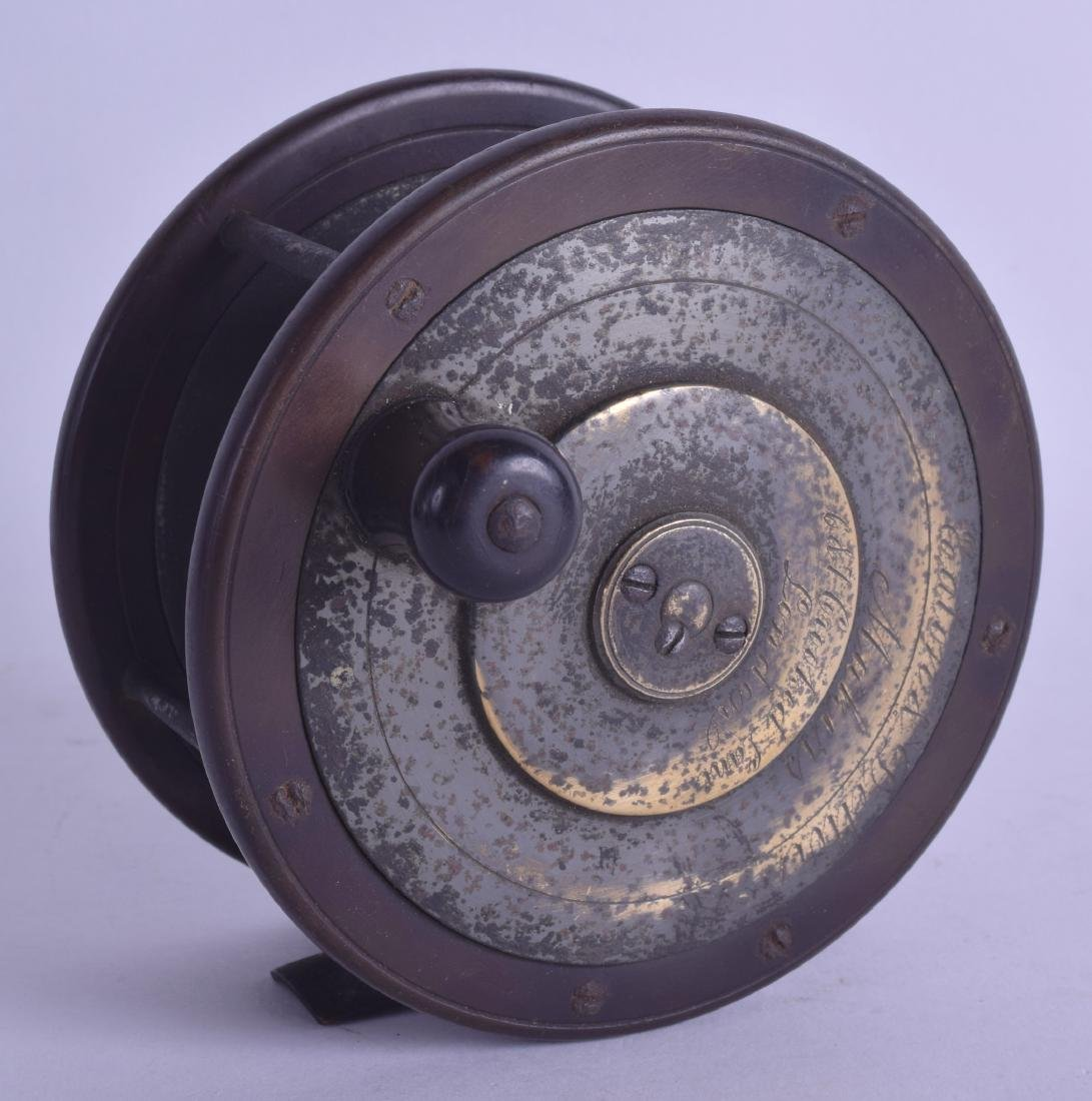 A 19TH CENTURY EATON AND DELLER FLY FISHING REEL with