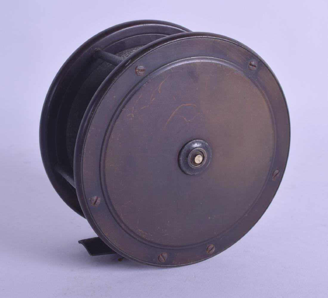A 19TH CENTURY EATON AND DELLER FLY FISHING REEL with - 2