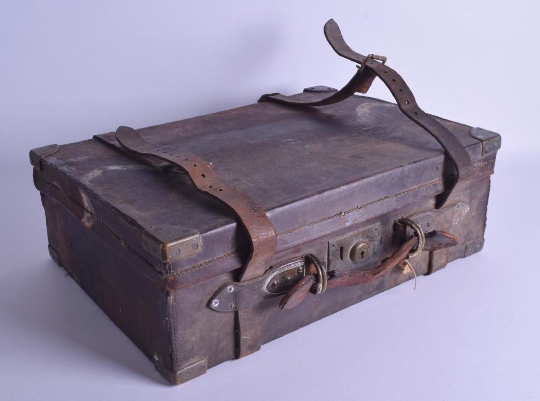 A GOOD ANTIQUE CARTRIDGE CASE by John Dickson & Son