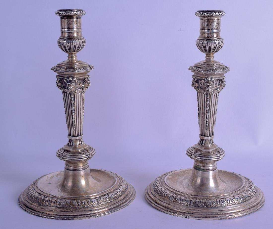 A PAIR OF 18TH/19TH CENTURY CONTINENTAL SILVER