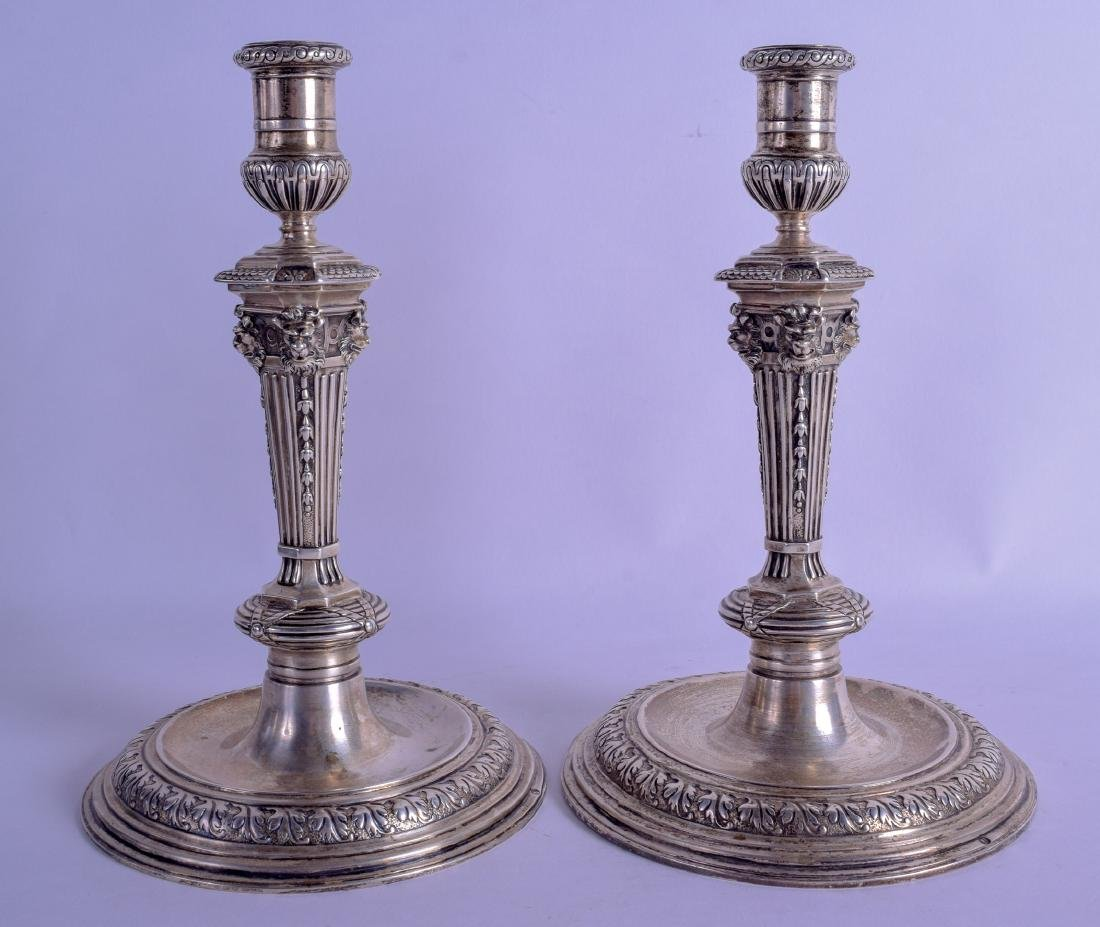 A PAIR OF 18TH/19TH CENTURY CONTINENTAL SILVER - 2