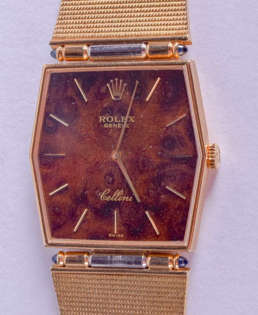 A LOVELY BOXED LADIES 18CT YELLOW GOLD ROLEX CELLINI - 2