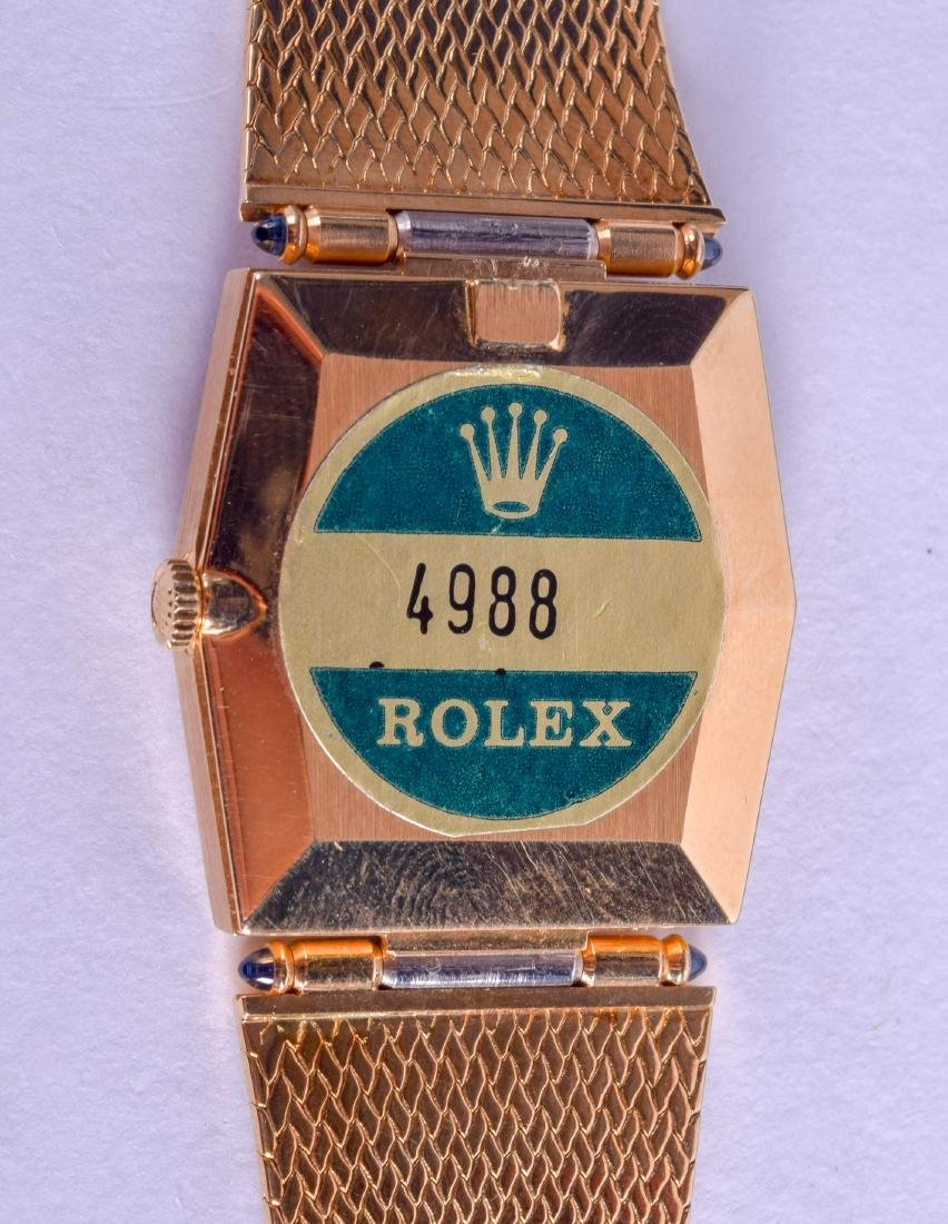 A LOVELY BOXED LADIES 18CT YELLOW GOLD ROLEX CELLINI - 3