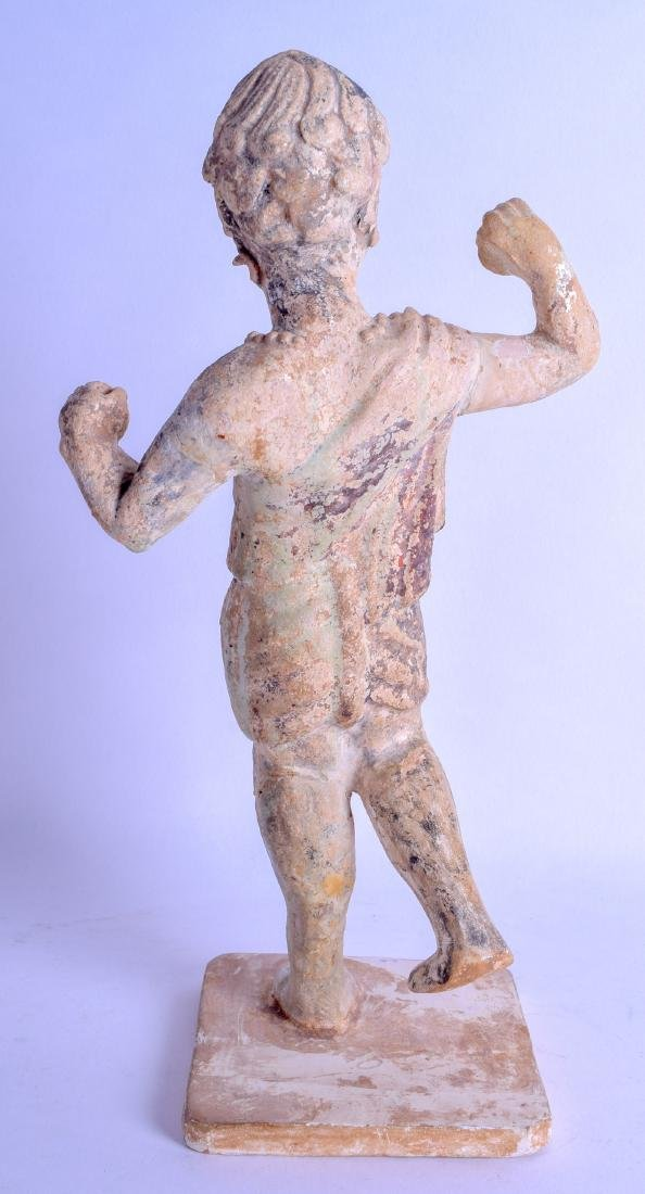 A VERY RARE CHINESE TANG DYNASTY POTTERY FIGURE OF A - 2
