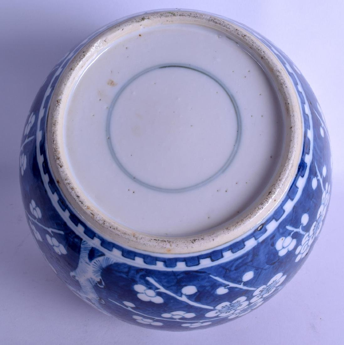 A LARGE 19TH CENTURY CHINESE BLUE AND WHITE GINGER JAR - 3